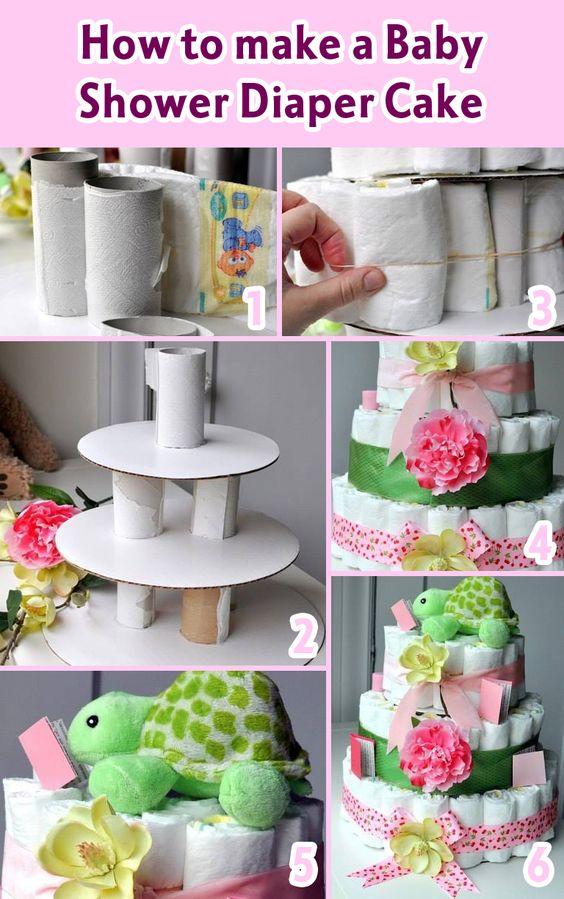 montagem bolo fraldas