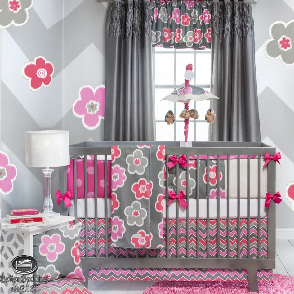 quarto floral moderno