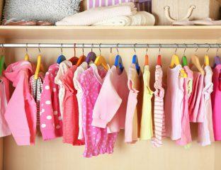 roupas de meninas. Consumismo em excesso