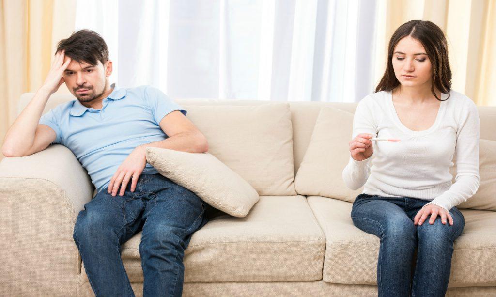 teste gravidez negativo. Infertilidade masculina