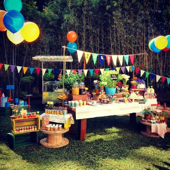 festa de criança ao ar livre