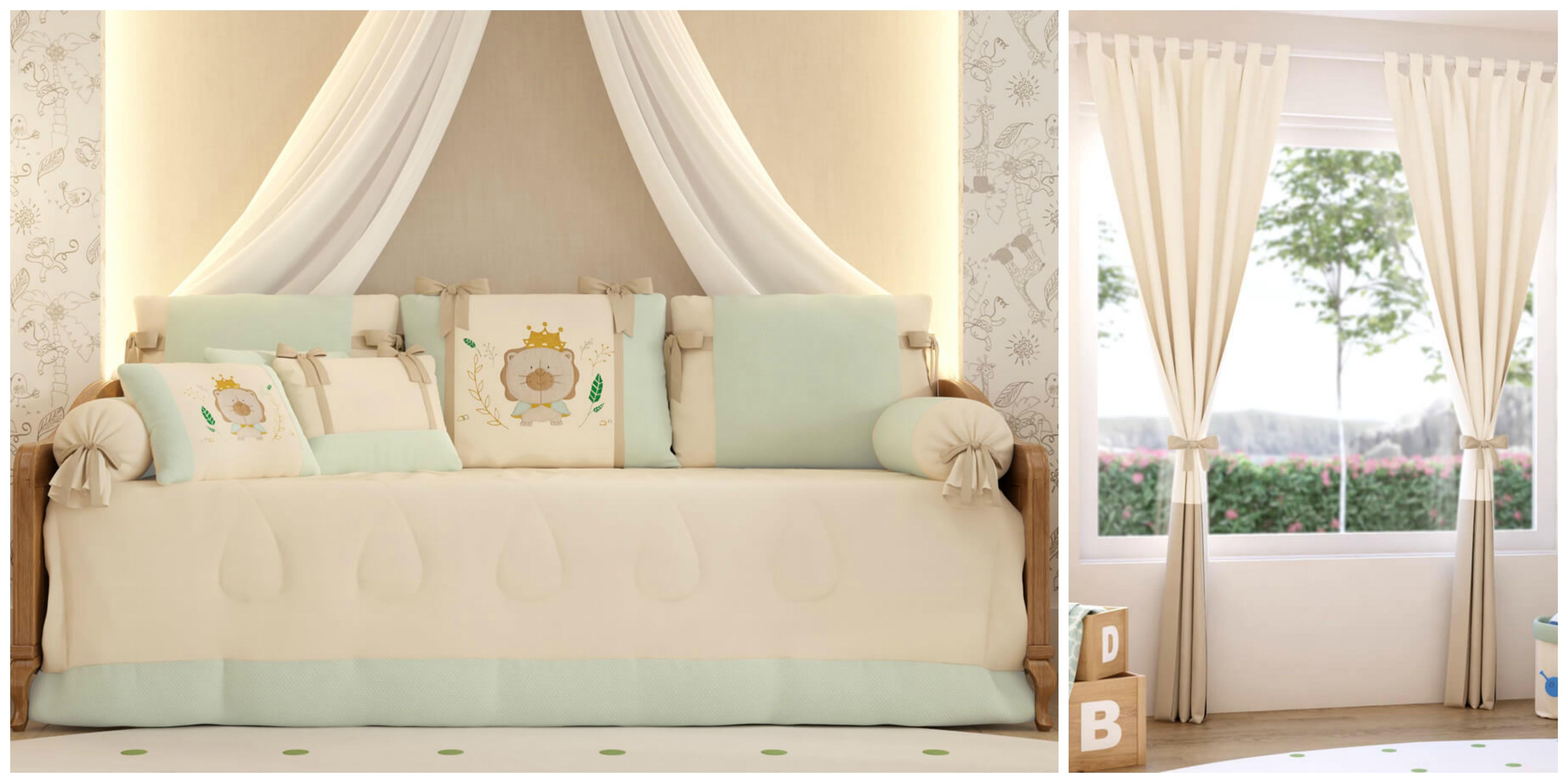 quarto leãozinho com cama e cortinas