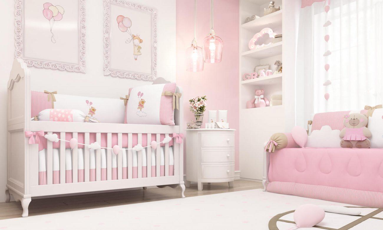 quarto de menina com ursinhos