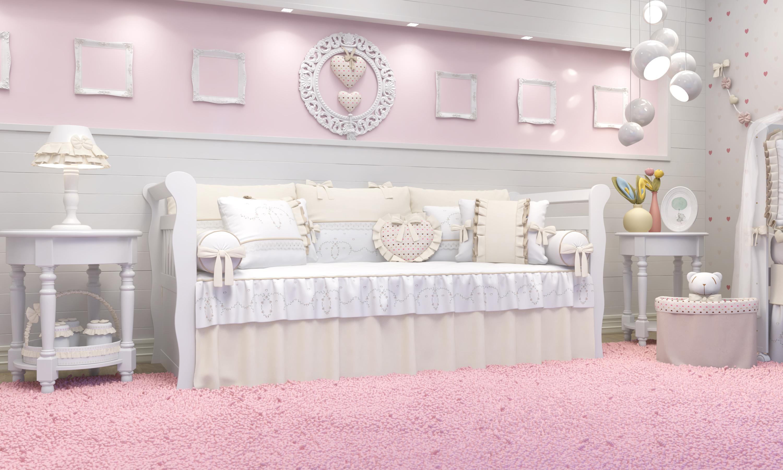 Coleção Alice Bege kit cama babá