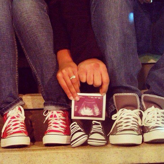 anunciar a gravidez sapatinhos
