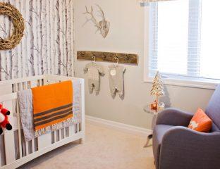 raposa na decoração do quarto do bebê