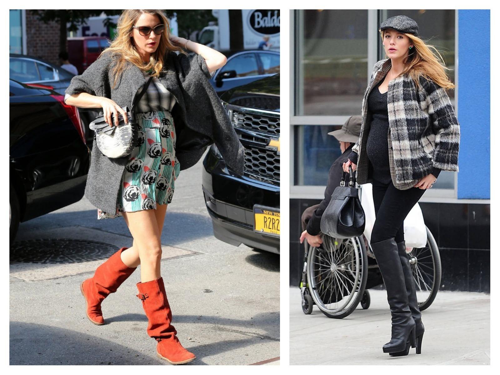 Moda para grávidas: Blake Lively