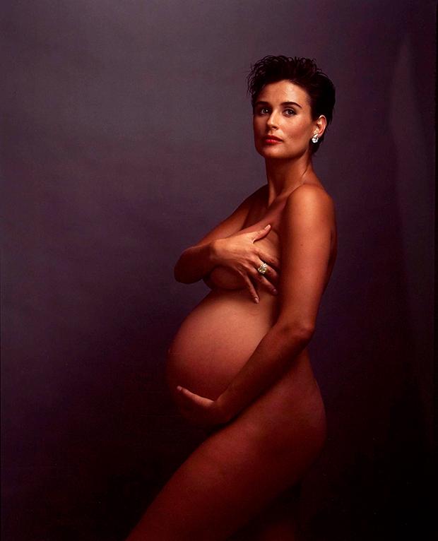 Sensualidade na gravidez: Demi Moore