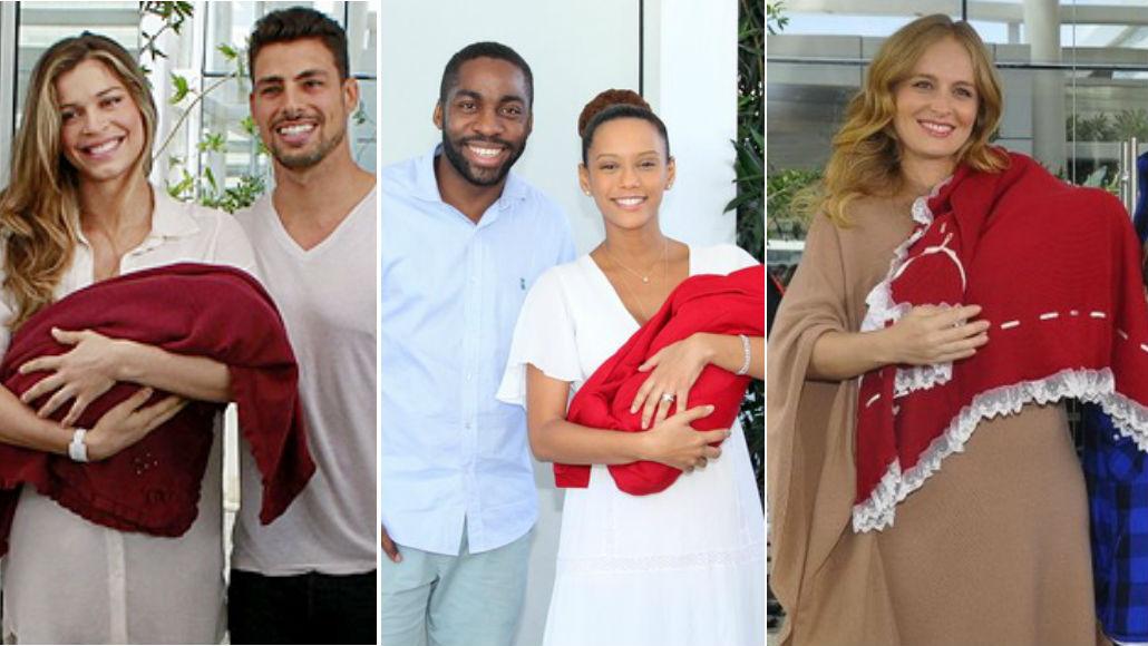 Saída de maternidade vermelha: famosos
