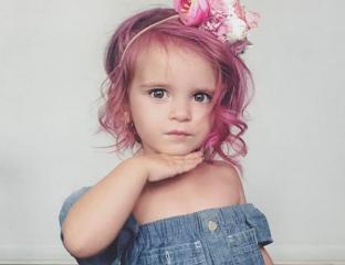 Pintar cabelo de criança Felicity