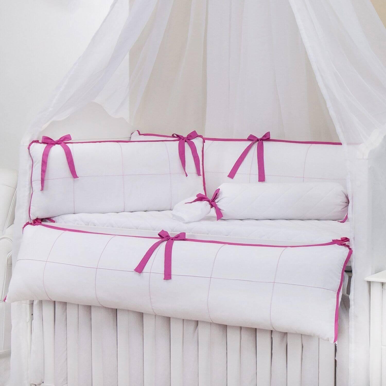 kit berço rosa pink