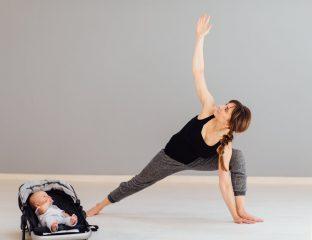 pós-parto com exercícios em casa