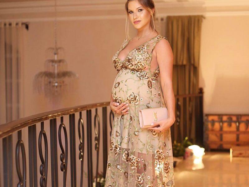 Looks de festa das grávidas famosas: Andressa Suita