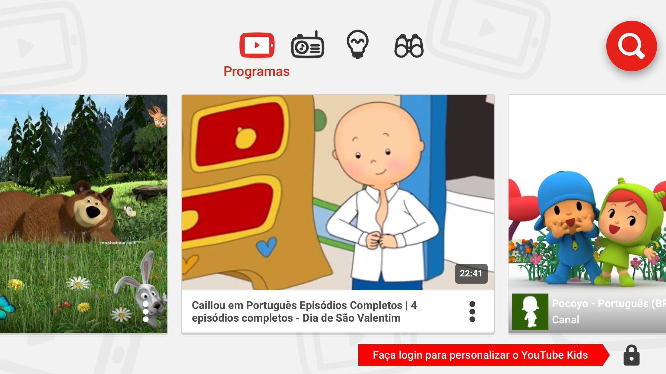 aplicativos de vídeos para crianças YouTube Kids