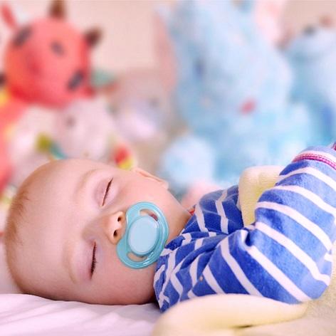 A chupeta é muito utilizada durante o sono