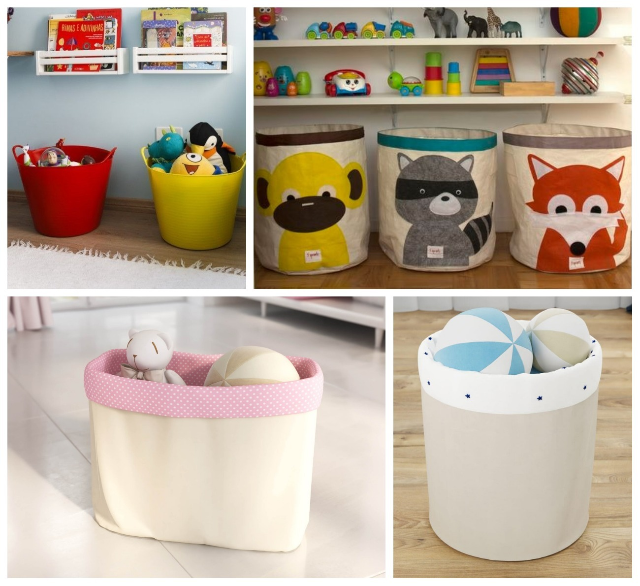 organizar os brinquedos cestos