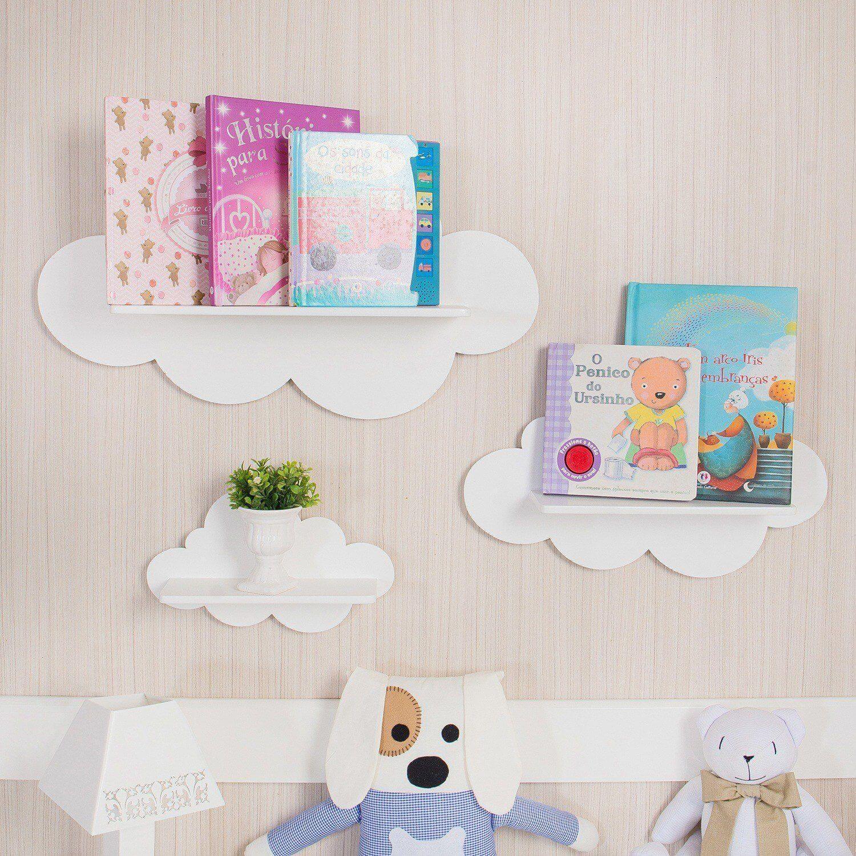 prateleiras e nichos no quarto do bebê