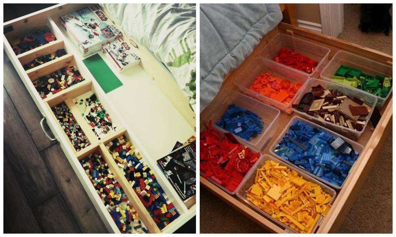 organizar os brinquedos gaveteiro