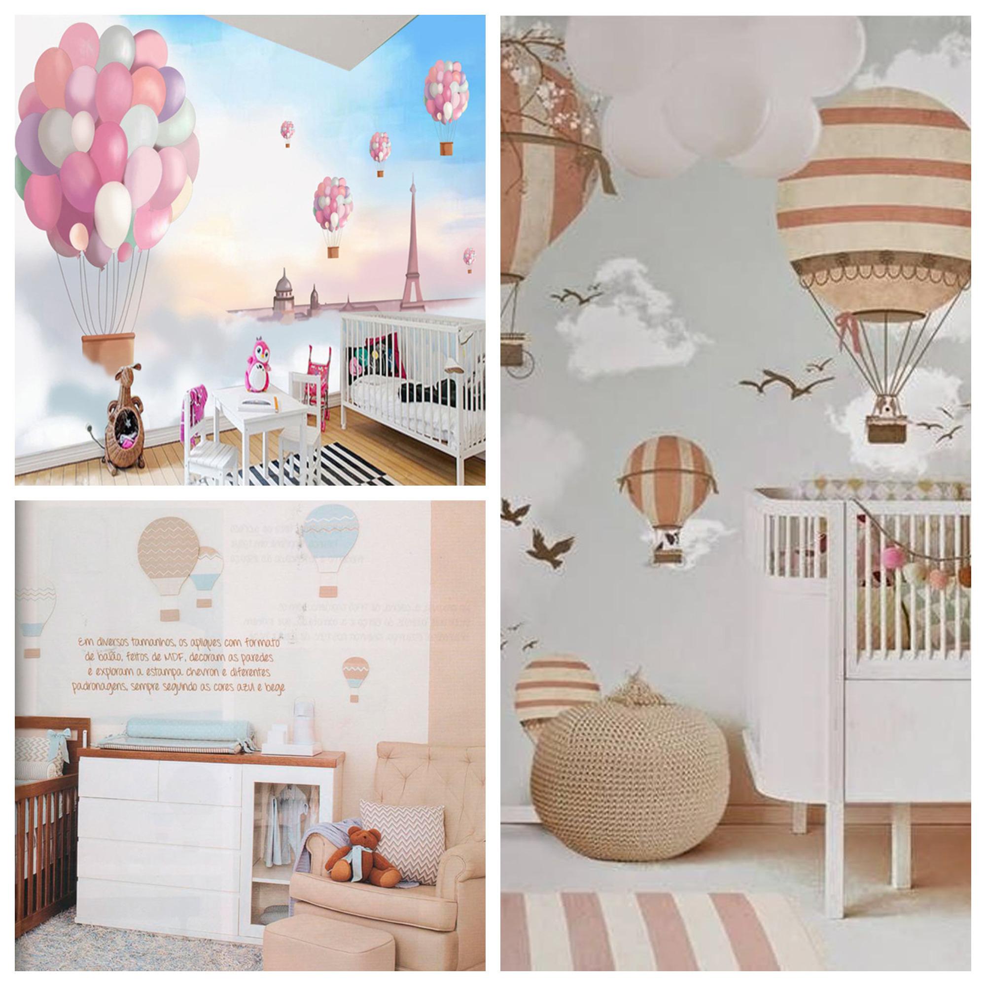 quarto de bebê com balões