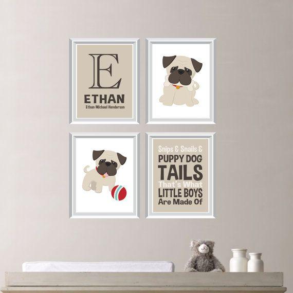 quarto de bebê com cachorros