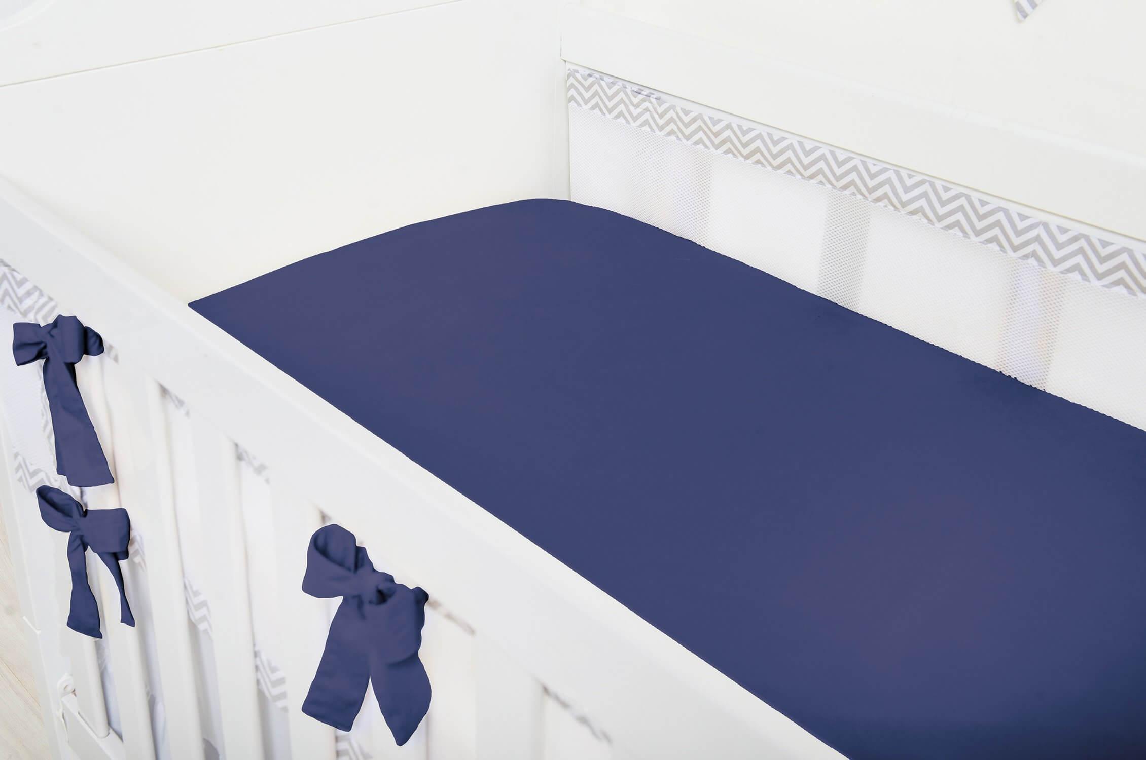 kit berço chevron azul