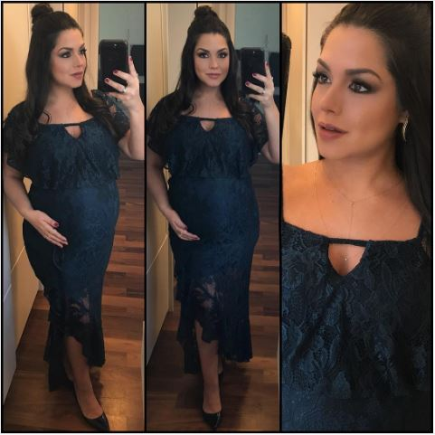 Look de festa das grávidas famosas: Thaís Fersoza