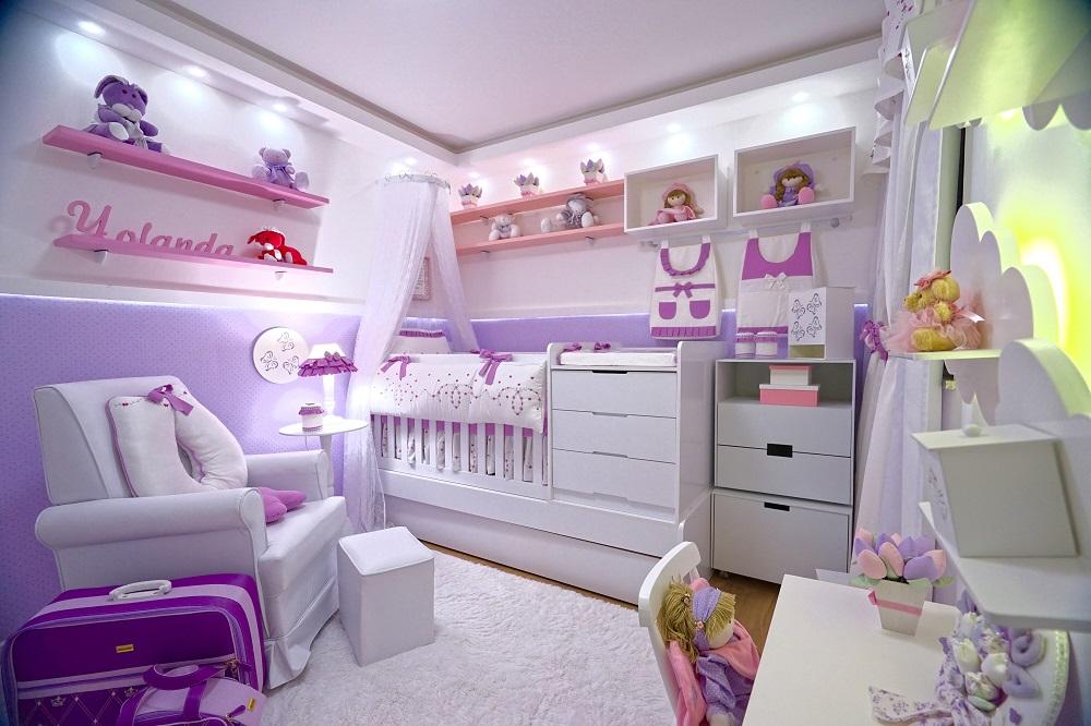 quarto de bebê pequeno