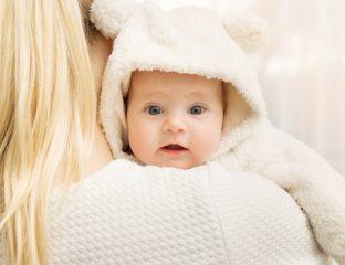 bebê está com frio