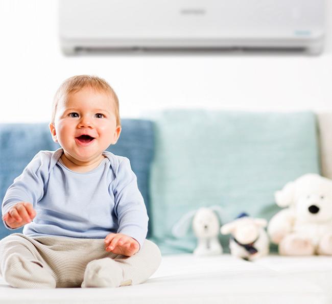 ar condicionado no quarto do bebê