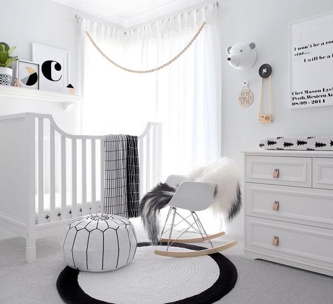 quarto de bebê escandinavo