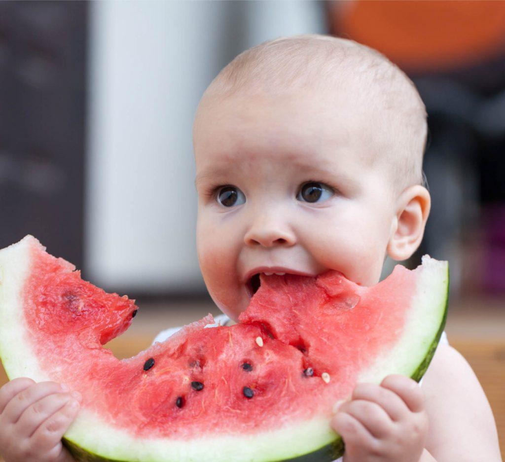 frutas para o bebê