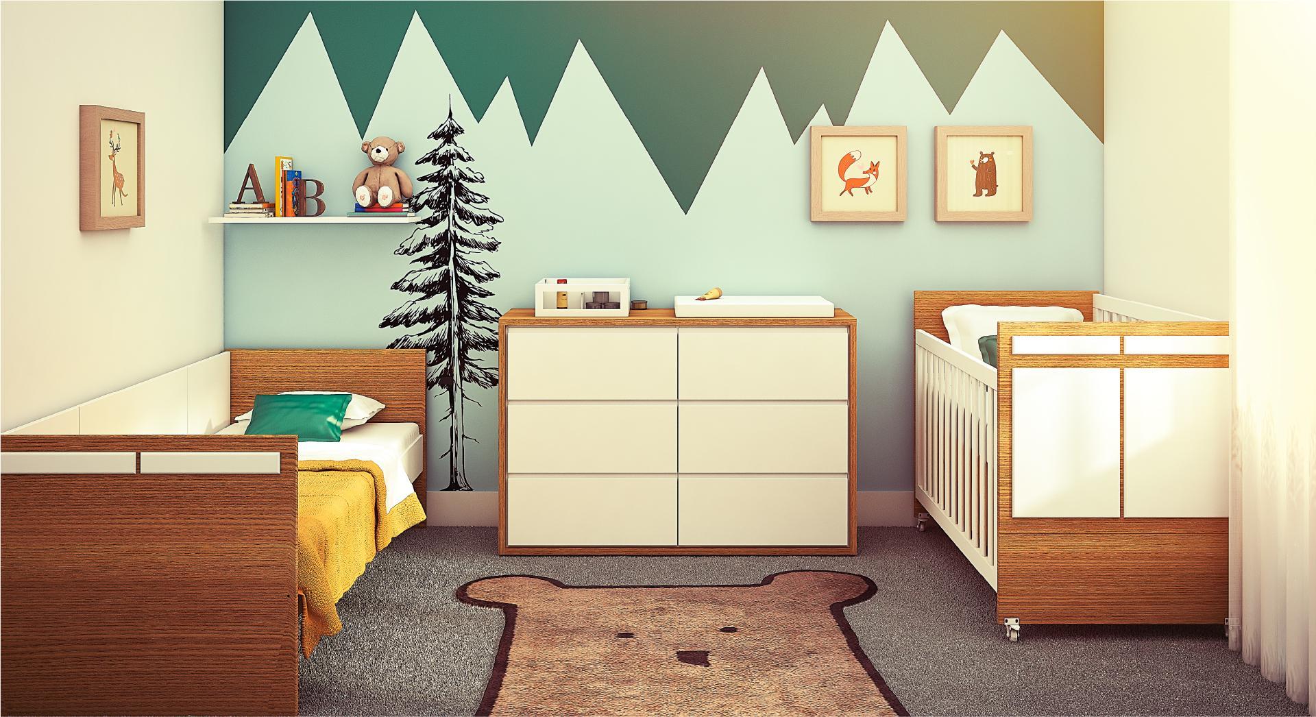 Artesanato Com Eva Moldes ~ A beleza do quarto de beb u00ea com madeira