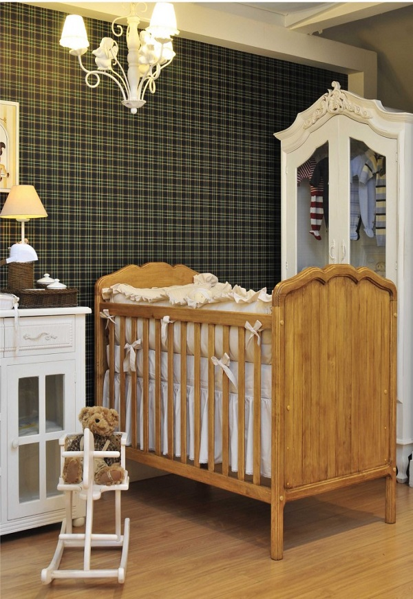quarto de bebê xadrez