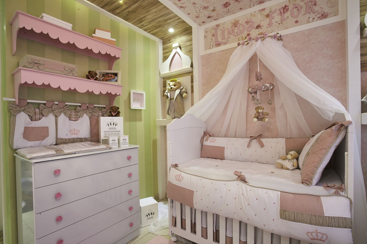 Quarto De Beb Com Dossel Ideias Para A Decora O  ~ Decoração De Quarto De Bebe Pequeno
