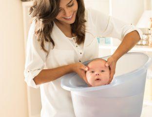 banho de ofurô para bebês