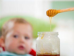 mel para o bebê