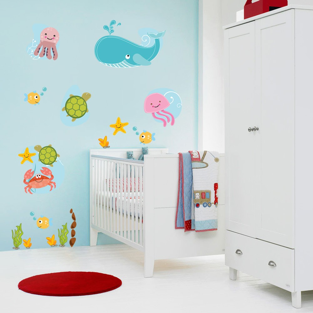 Decora O Adesivos De Parede Para Quarto De Beb  ~ Quarto De Bebê Safari E Quarto De Bebe Criativo
