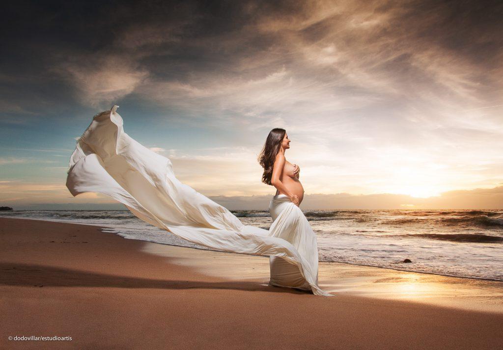 ensaio gestante na praia