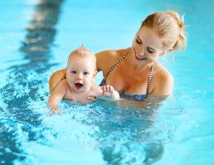 bebê pode entrar na piscina
