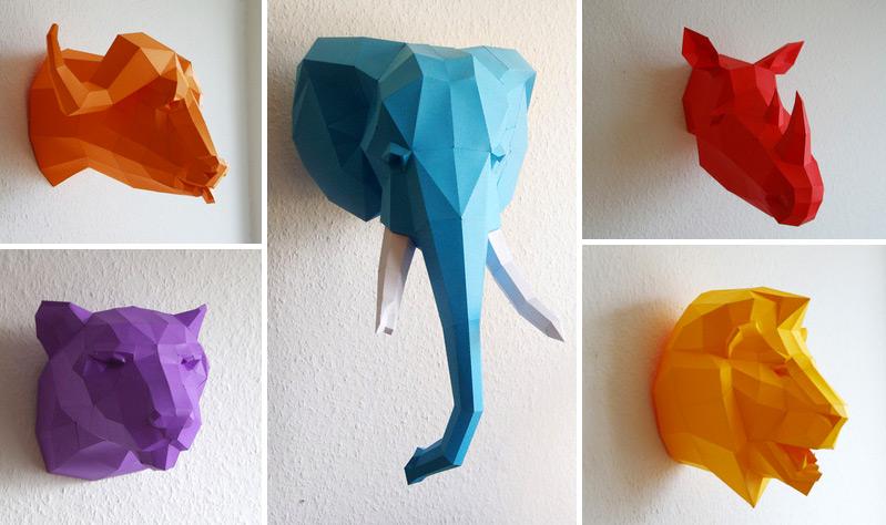 falsas cabeças de animais