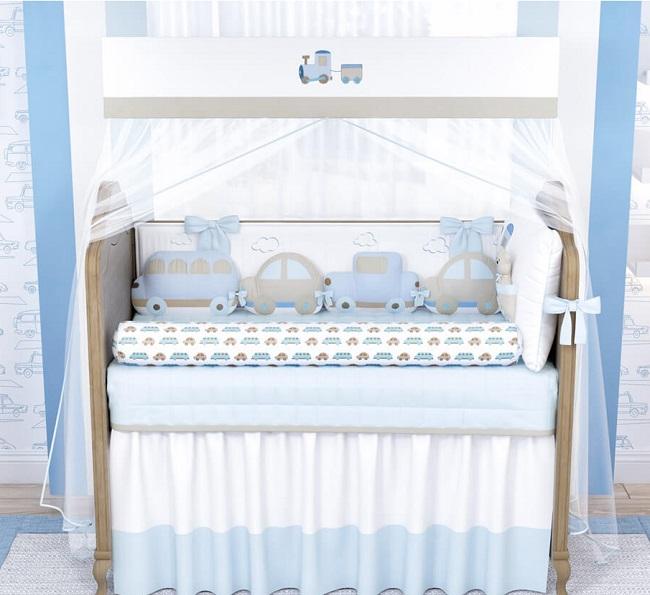 quarto de bebê carrinhos