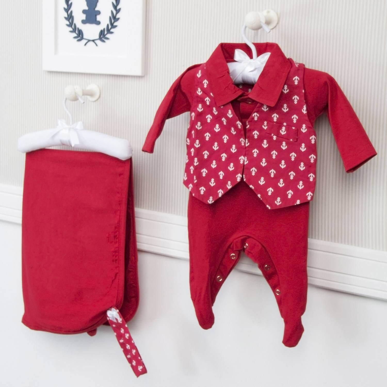 saída maternidade vermelha