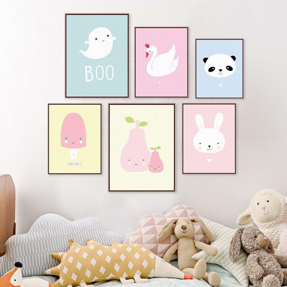 quadrinhos para quarto de bebê