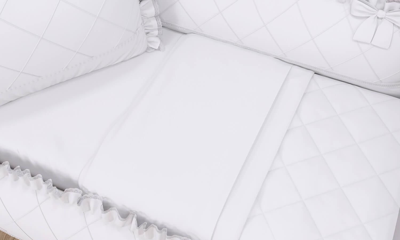 kit berço branco clássico