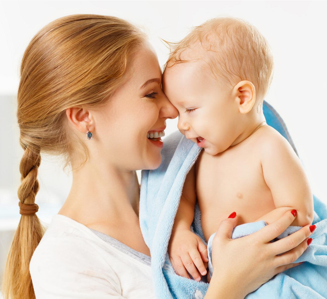 tomar banho com o bebê
