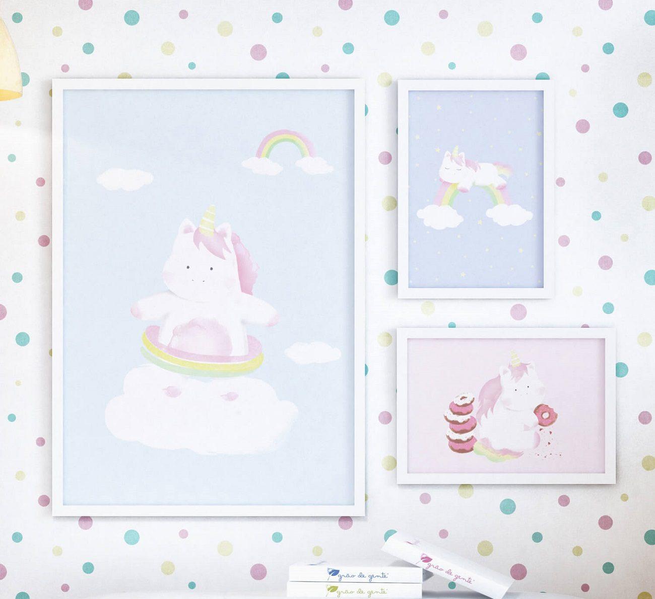 quadros para quarto de menina