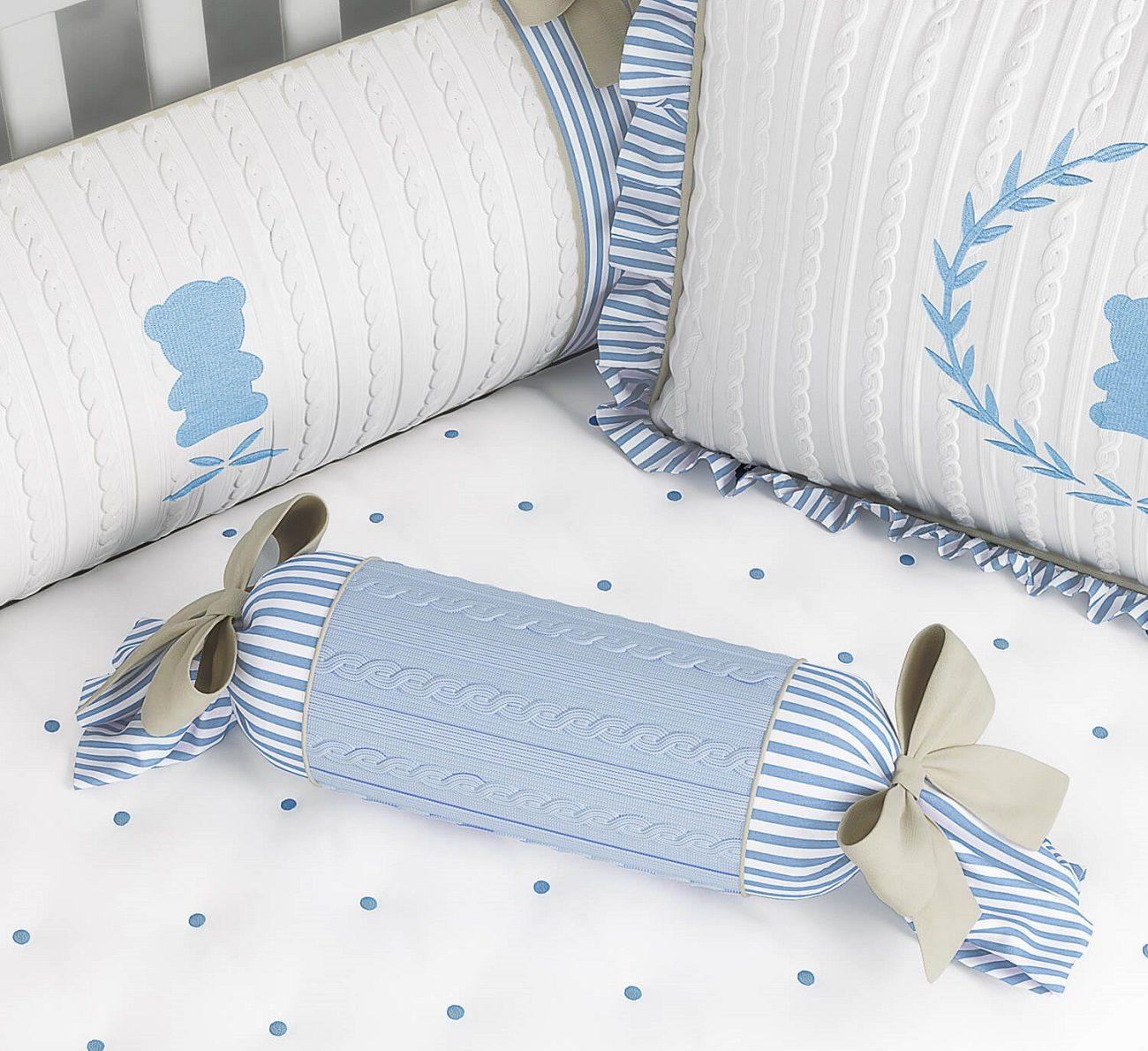 quarto de bebê com tricô