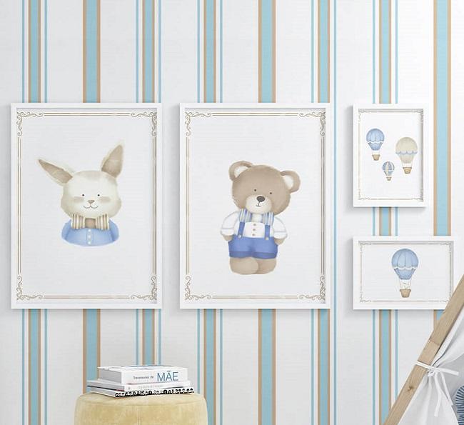 quadros para quarto de menino