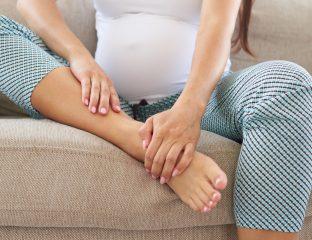 pés inchados na gravidez