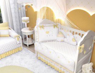 quarto de bebê amarelo